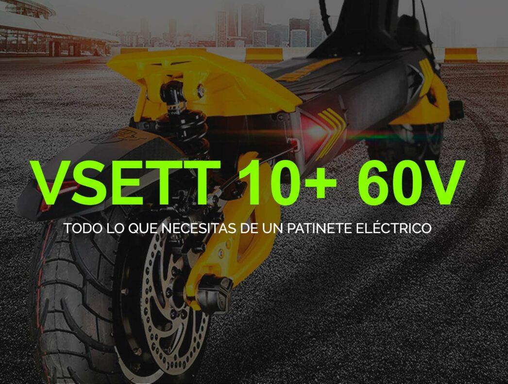 VSett 10+ 60V: Patinete eléctrico full equip